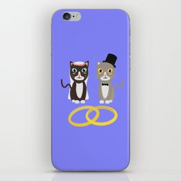 Wedding Cats with Rings iPhone Skin