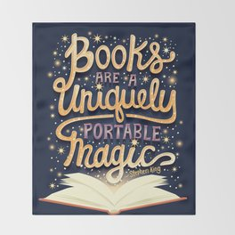 Books are magic Throw Blanket