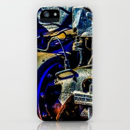 Mechanical Parts Of An Old Steam Engine Locomotive iPhone Case