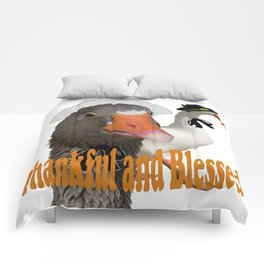 Thankful and Blessed Thanksgiving Pilgrims Comforters