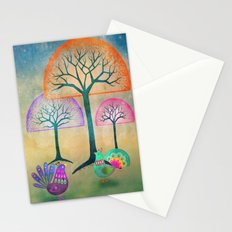 Moon Bird Forest Stationery Cards