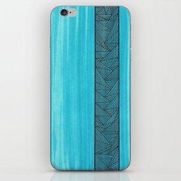 Light Blue Background iPhone Skin