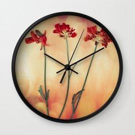 scanned ranuncula Wall Clock