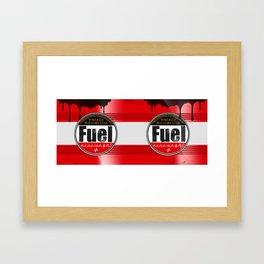 vintage fuel barrel mug cafe racer motorcycle Framed Art Print