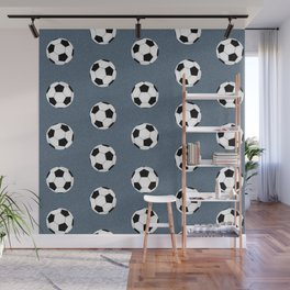 Soccer pattern great decor print for nursery boys or girls rooms sports theme Wall Mural