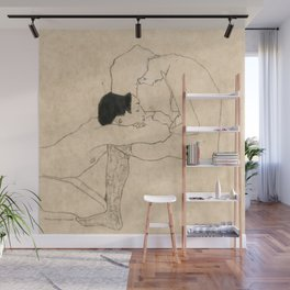 "Egon Schiele ""Lovers"" Wall Mural"