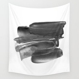 Lipstick Smudge black and white abstract painting poster design home wall art bedroom decor Wall Tapestry