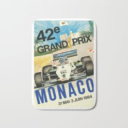 Gran Prix de Monaco, 1984, vintage poster Bath Mat