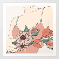 Daisies & Tulips Art Print