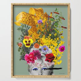 Bardot flowers Serving Tray