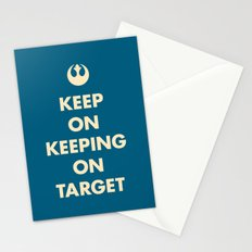 Keep On Keeping On Target (Blue) Stationery Cards