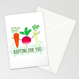 Rooting for you - Punny Garden Stationery Cards