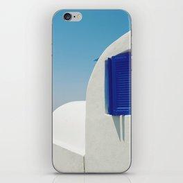 Santorini Blue & White Window iPhone Skin