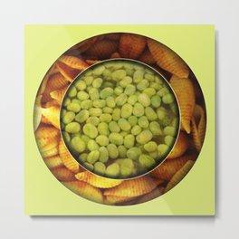 Pasta + Beans Metal Print