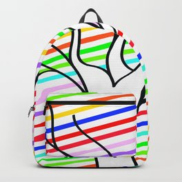 abstract rainbow whit tree Backpack