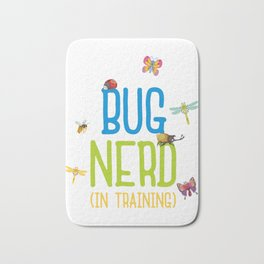 Kids Bug Nerd Insect Hunter Kid Gift Bath Mat