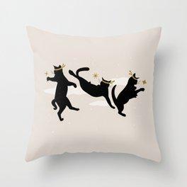 Ninja Cats I. Throw Pillow