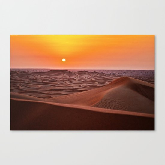 Sun desert 4 Canvas Print