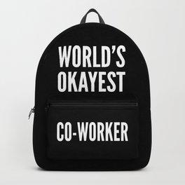World's Okayest Co-worker (Black & White) Backpack