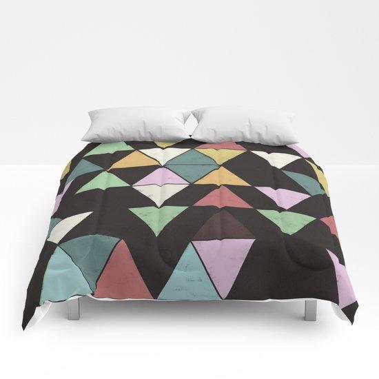 Dark Triangles Comforters