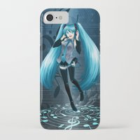 vocaloid iPhone & iPod Cases featuring Vocaloid Hatsune Miku by RAVEFIRELL