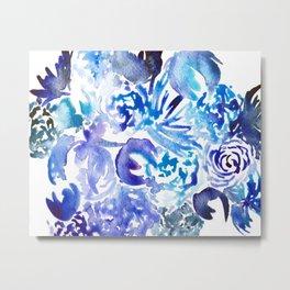 BlueBlooms Metal Print