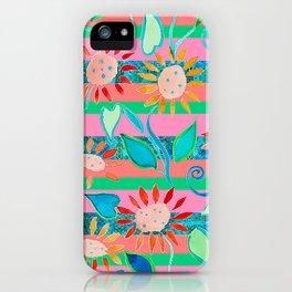 zakiaz flower stripe iPhone Case