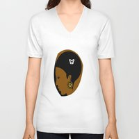 afro V-neck T-shirts featuring AFRO  by Robleedesigns