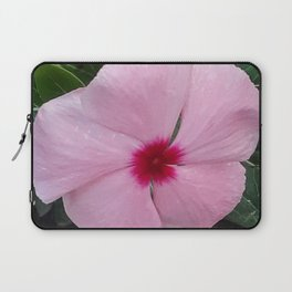 Simplicity in a Pink Flower Laptop Sleeve