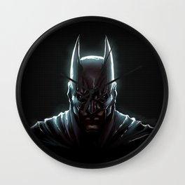 BAT MAN - bat man Wall Clock