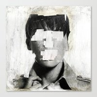 number Canvas Prints featuring Faceless | number 02 by FAMOUS WHEN DEAD
