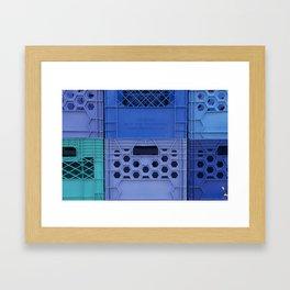 Milk Crates Framed Art Print
