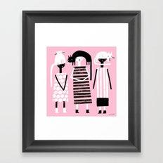 PINK BLACK & WHITE Framed Art Print
