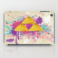 triforce iPad Cases featuring Splash Triforce by Brittany