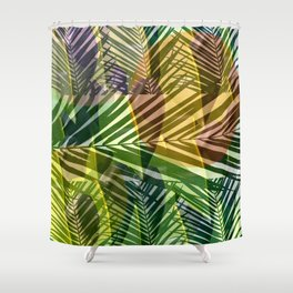 exotic palms abstract Shower Curtain