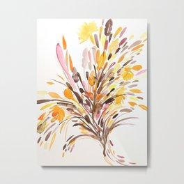 Fall Floral Watercolor 2 Metal Print