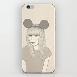 Mouse Girl iPhone Skin