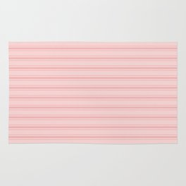 Wide Soft Blush Pink Mattress Ticking Stripes Rug