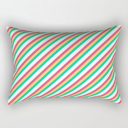 Candy Inclined Stripes Rectangular Pillow