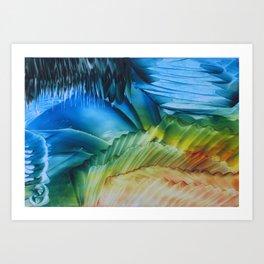 Green-blue caves Art Print