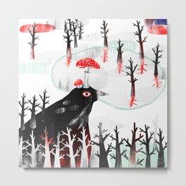 Black Bird Metal Print