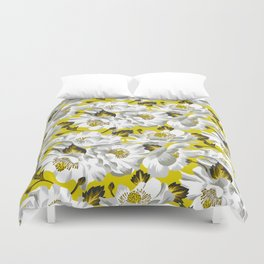 Mount Cook Lily - Yellow/White Duvet Cover