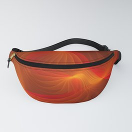 Much Warmth, Abstract Fractal Art Fanny Pack