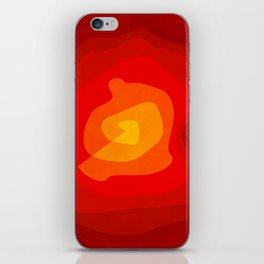 Red Vibrations iPhone Skin