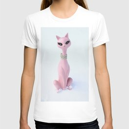 Pink Atomic Cat T-shirt