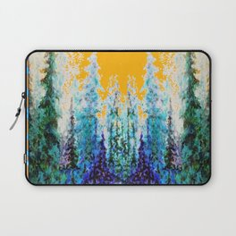 Western Gold  Modern Art Mountain Trees Blue  Art Laptop Sleeve