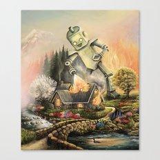 Firelight Cottage Canvas Print