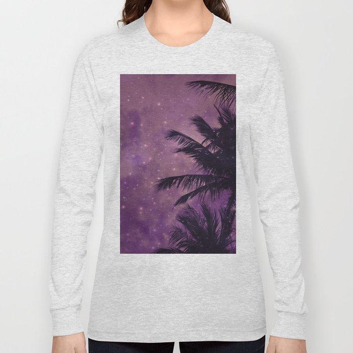 Purple Sky Palm Long Sleeve T-shirt