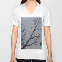 alone V-neck T-shirts featuring ALONE by Annie Koh