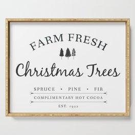 Christmas Tree Farm Art Print Gift Serving Tray